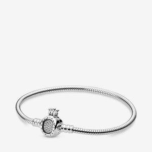 Pandora  Crown O Clasp Snake Chain Bracelet